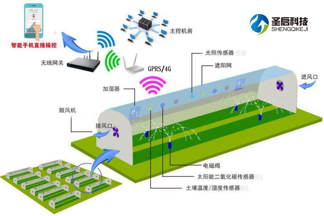 农业物联网系统:智能温室大棚控制系统
